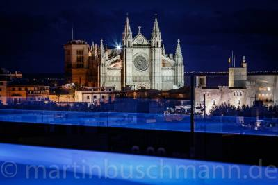 1 Woche Mallorca, Spanien, Karthedral at Palma... View from a private rooftop
