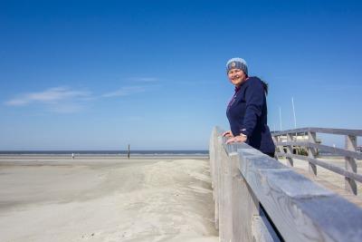 Kurztrip Nordseeküste, Deutschland, Der Strand von Sankt Peter-Ording ist 12 Kilometer lang und 2 Kilomete