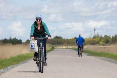 Kurzurlaub Nordseeküste, Deutschland, Mit dem Fahrrad kann man unzählige Kilometer fahren und das haben wir