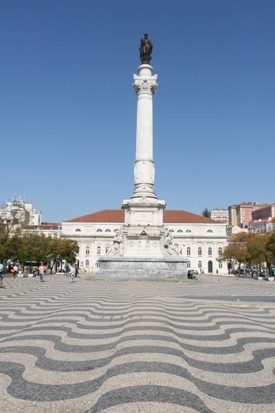 Kurztrip Region Lissabon und Setúbal, Portugal, Der Rossio Platz ist das Hauptzentrum in Lissabon. Auf dem Platz steht