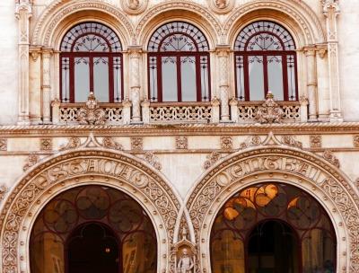 Kurzurlaub Region Lissabon und Setúbal, Portugal, Der Bahnhof Rossio liegt am Rossioplatz im Stadtkern und wurde 1890 er