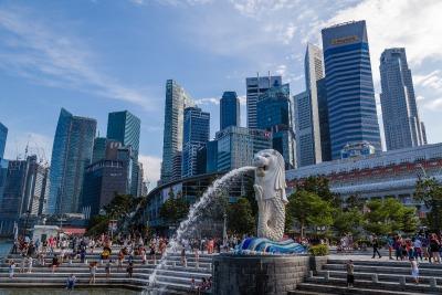 Kurztrip Singapur, Singapur, Das Merlion ist ein Fabelwesen mit einem Löwenkopf und Fischschwanz.