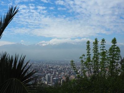 Langzeiturlaub Santiago de Chile & Umgebung, Chile, Vom Hügel Cerro San Cristobal kann man große Teile der Stadt erblick