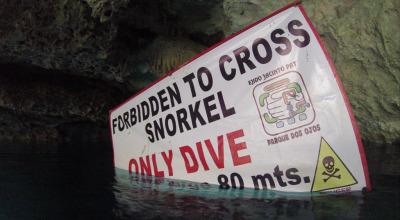 Zwei Wochen Riviera Maya & Insel Cozumel, Mexiko, Die tieferen Höhlen und Kavernen sind allerdings nur Tauchern vorbeha