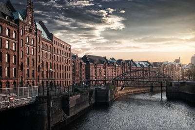 Kurzurlaub Hamburg, Deutschland, Die Speicherstadt in Hamburg ist der größte historische Lagerhauskom