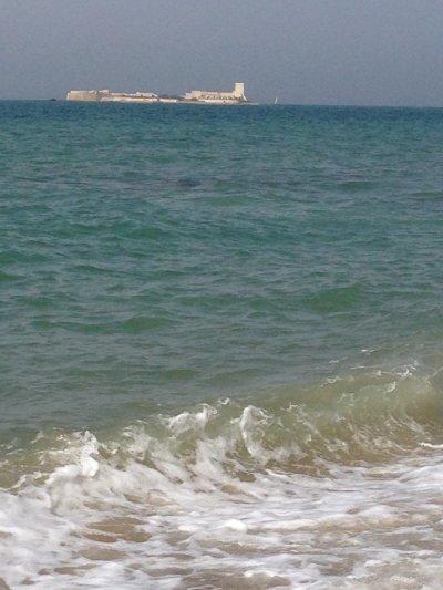 Zwei Wochen Costa de la Luz, Spanien, Blick auf Isla Sancti Petri