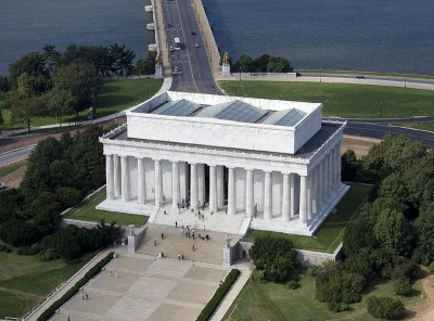Kurztrip District of Columbia, USA, Das Lincoln Memorial Gebäude hat 36 Säulen, welche für die 36 Staat