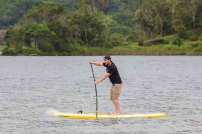 Kurztrip Ponta Delgada (Stadt), Azoren, Portugal, In der Lagoa das Sete Cidades kann man Kanus mieten oder Stand Up Padd