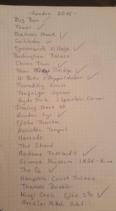 Kurztrip London & Umgebung, Großbritannien, Finde habe in 4 Tagen viel von der Liste geschafft