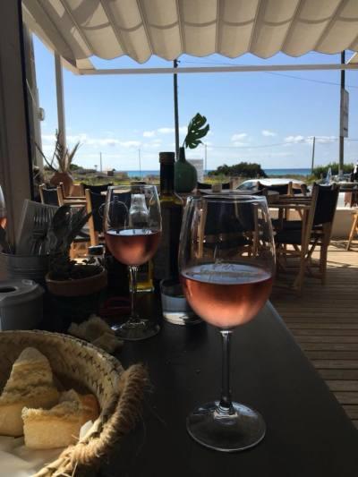 Kurztrip Ca's Concos (Stadt), Mallorca, Spanien, Strandbar Bar Esperanza, sehr gutes Essen, schöner Rose