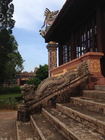 2 Wochen Vietnam, Vietnam, Die verbotene Stadt in Hue bietet, ähnlich wie die Kaisergräber eine