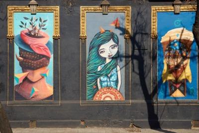 Kurzurlaub Santiago de Chile & Umgebung, Chile, Das bunte Barrio Yungay ist das älteste Wohnviertel von Santiago und