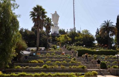 Kurztrip Santiago de Chile & Umgebung, Chile, Die klassische Sicht auf Santiago hast du vom Hausberg der Stadt, dem
