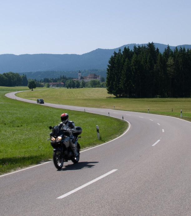 Kurzurlaub Oberammergau (Stadt), Bayern, Deutschland, Unsere erste Etappe führt zur Wieskirche in Steingaden.