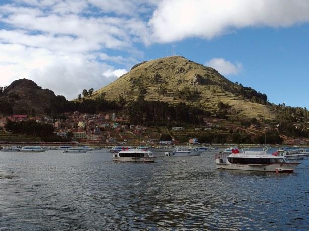 Langzeiturlaub Bolivien, Bolivien, Blick auf Copacabana am Titicacasee