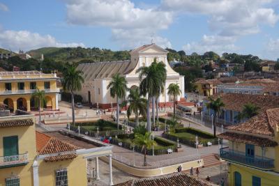 2 Wochen Kuba, Kuba, Trinidad bzw. der Plaza Mayor von oben. Die perfekt erhaltene, spanisc