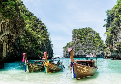10 Tage Thailand, Thailand, Die Ko Phi Phi Don ist die Hauptinsel der Ko Phi Phi Inselgruppe vor d