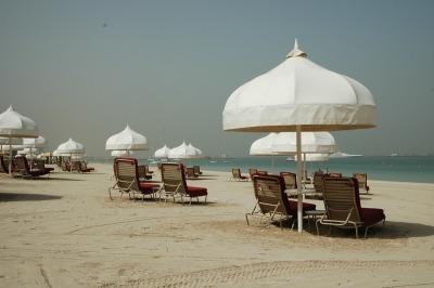 Kurztrip Dubai, Vereinigte Arabische Emirate, Der Al-Mamzar Beach ist etwas abseits vom Stadtzentrum, was den Vortei