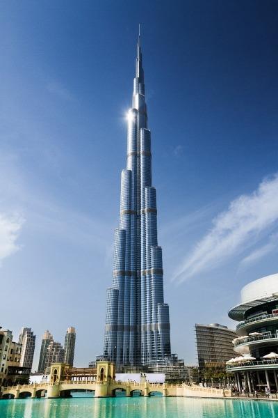Kurzurlaub Dubai, Vereinigte Arabische Emirate, Der Burj Khalifa ist 828 Meter hoch und somit das höchste Gebäude de