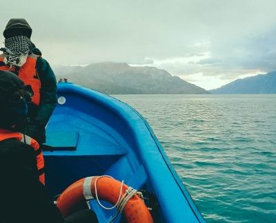Zwei Wochen Patagonien, Chile, Lago General Carrera auf dem Weg zu den Marmorhöhlen