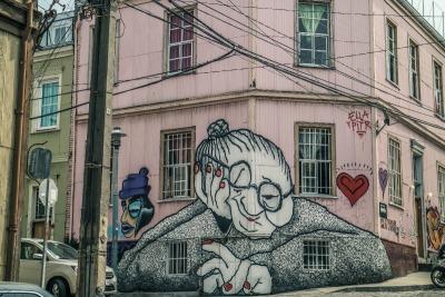 Kurzurlaub Valparaiso & Umgebung, Chile, Überall findet man in Valparaiso Street Art vom feinsten