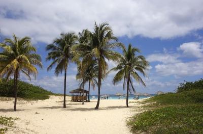 1 Woche Kuba, Kuba, Im Schatten der Palmen und Sonnenschirme kannst du es dir gut gehen la