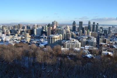 10 Tage Quebec, Kanada, Ausblick vom Mont Royal - auf die Stadt Montréal ;)