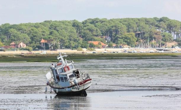 Langzeiturlaub Aquitanien, Frankreich, Am Bassin D'Archachon wachsen die besten Austern. Die Lagune hat je na