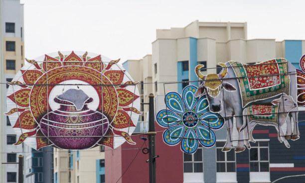 """Kurztrip Singapur (Stadt), Singapur, Singapur, Neben den Chinesen leben auch viele Inder in Singapur. """"Little India"""""""