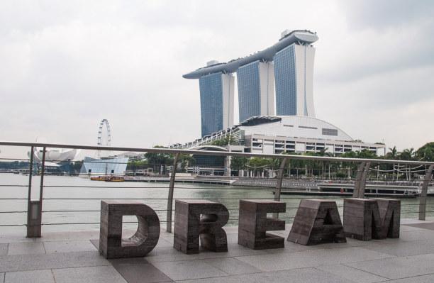 Kurztrip Singapur (Stadt), Singapur, Singapur, In der Marina Bay findest Du eines der modernen Wahrzeichen von Singap