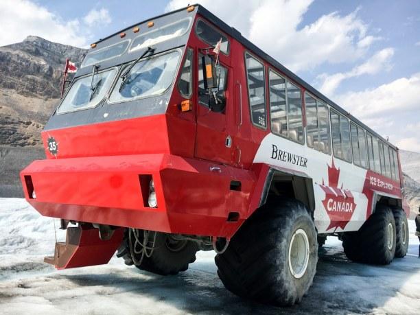 Kurzurlaub Jasper (Stadt), Alberta, Kanada, Mit dem Brewster rauf auf den Gletscher!