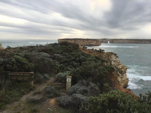 Kurzurlaub Victoria, Australien, Abends, kurz vor Sonnenuntergang ist an der Great Ocean Road weniger l