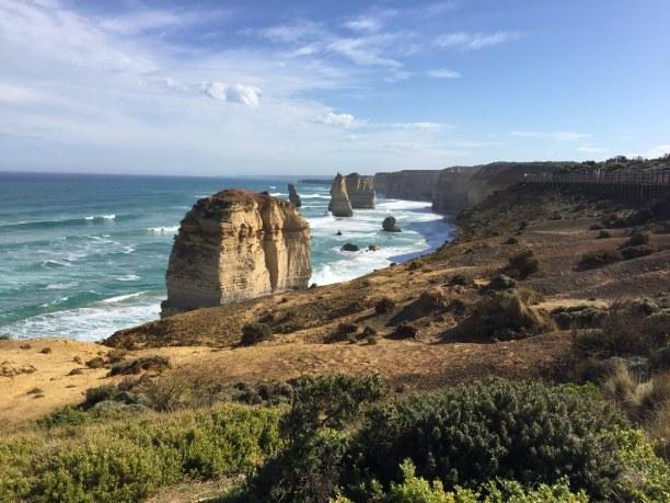 Kurztrip Victoria, Australien, Die 12 Apostel sind bis zu 60 Meter hohe, im Meer stehende Felsen aus