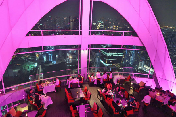 Langzeiturlaub Bangkok (Stadt), Bangkok und Umgebung, Thailand, Red Sky Restaurant