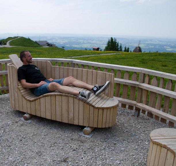 Kurztrip Oberammergau (Stadt), Bayern, Deutschland, Ich habe grad keine Lust zum wandern und genieße einfach das tolle Pa