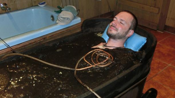 Kurzurlaub Oberammergau (Stadt), Bayern, Deutschland, Im Parkhotel gönne ich mir dann noch ein Moorbad. Ein herrliches Gef