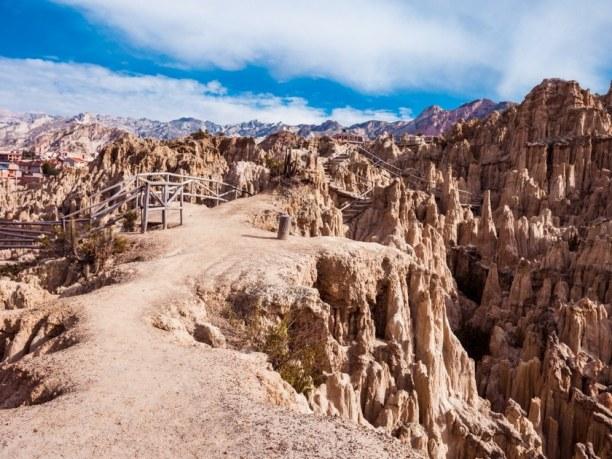 Langzeiturlaub Bolivien, Bolivien, Eine schöne Tagestour kannst du von La Paz zum Tal des Mondes machen.