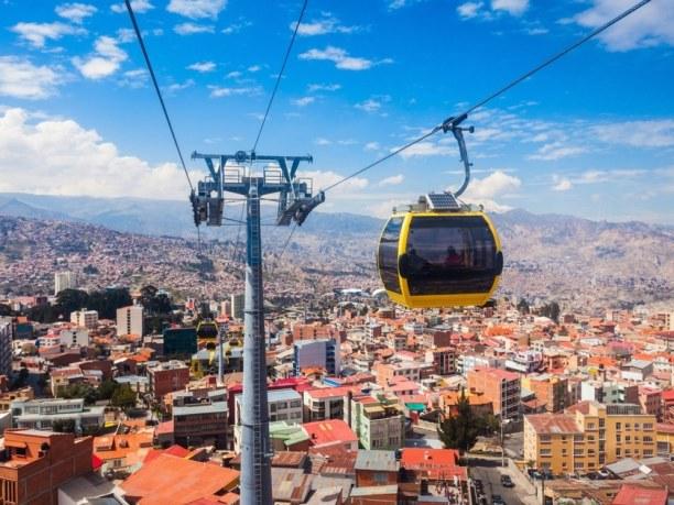 Langzeiturlaub Bolivien, Bolivien, Das Highlight eines La Paz Besuchs ist die Fahrt mit der Teleferico, d