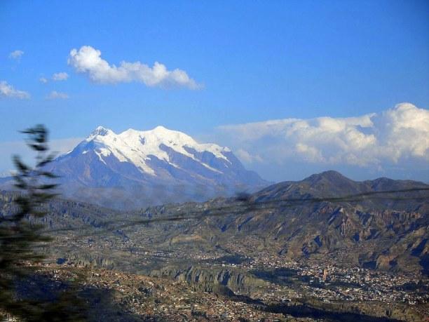 Kurzurlaub La Paz (Stadt), Bolivien, Bolivien, Der grandiose Ausblick auf den Illamani, den Schneeberg der Anden