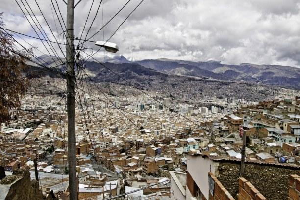 Kurzurlaub La Paz (Stadt), Bolivien, Bolivien, Der Blick von El Alto auf das Häusermeer von La Paz