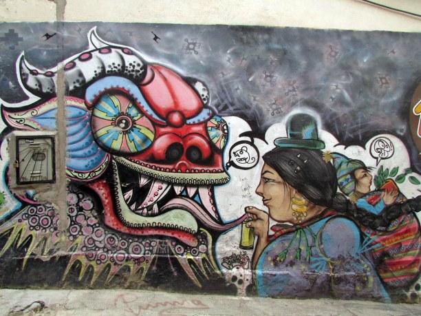 Kurztrip La Paz (Stadt), Bolivien, Bolivien, Typische, farbenfrohe Streetart in La Paz