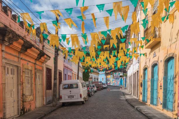 3 Wochen Nordosten, Brasilien, Olinda liegt nahe der Großstadt Recife. Das Dörfchen hat eine Alt-St
