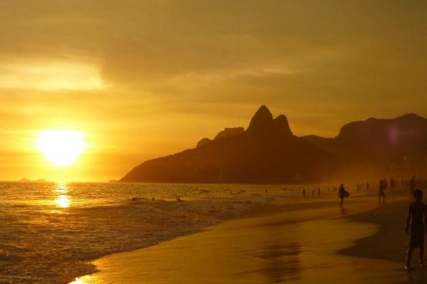 10 Tage Südosten, Brasilien, Der Ipanema ist ein schöner Sandstrand und eignet sich super zum Schw