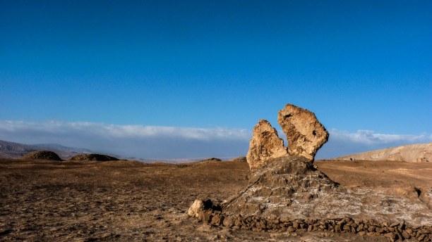 Langzeiturlaub Atacama Wüste, Chile, Ein Dinosaurier oder ein küssendes Paar? Die Atacama hat viele skuril