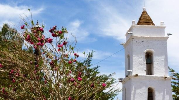 Langzeiturlaub Atacama Wüste, Chile, Die weiße Kirche von Toconao