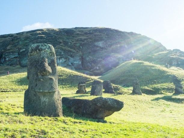 Kurztrip Osterinsel, Chile, Die bekannten Moai Statuen sind in Rano Raraku am imposantesten