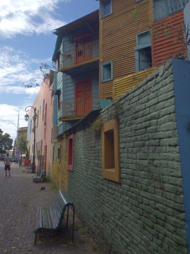 10 Tage Patagonien, Chile, farbenfrohes La Boca (nahe das Bocas Juniors Stadions)