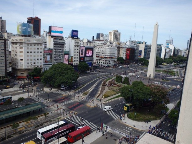 10 Tage Patagonien, Chile, Obelisk von Buenos Aires - Hotel Ausblick