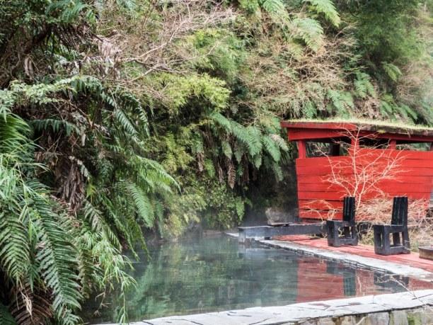 Langzeiturlaub Santiago de Chile & Umgebung, Chile, In den Termas Geometricas gibt es jede Menge verschiedene Pools mit ve