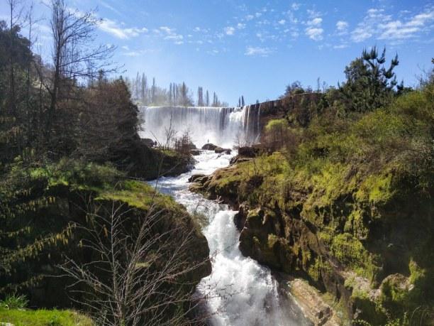 Langzeiturlaub Santiago de Chile & Umgebung, Chile, Der Wasserfall Salto del Laja ist bekannt als die Niagara Fälle Chile